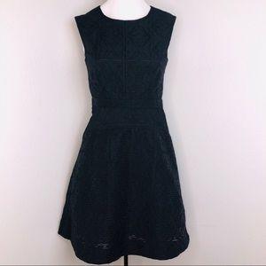 JCrew Black textured Black Sleeveless Dress Size 0